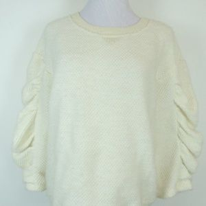 SEE BY CHLOE IVORY BACK ZIP SWEATER TOP I46 10